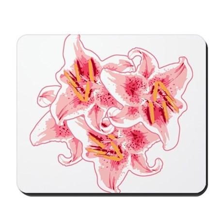 Bunch of Stargazer Lily Mousepad