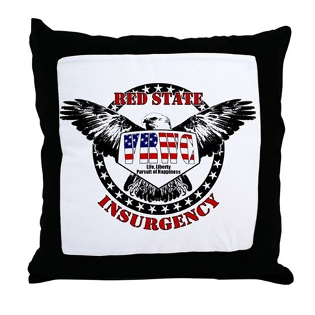 VRWC Red State Throw Pillow