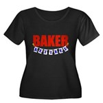 Retired Baker Women's Plus Size Scoop Neck Dark T-