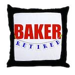 Retired Baker Throw Pillow