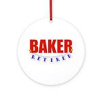 Retired Baker Ornament (Round)