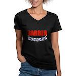 Retired Barber Women's V-Neck Dark T-Shirt