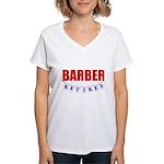 Retired Barber Women's V-Neck T-Shirt