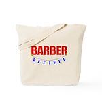 Retired Barber Tote Bag