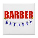 Retired Barber Tile Coaster