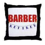 Retired Barber Throw Pillow
