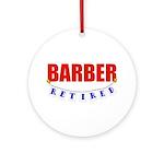 Retired Barber Ornament (Round)