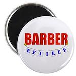 Retired Barber Magnet