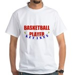 Retired Basketball Player White T-Shirt