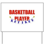 Retired Basketball Player Yard Sign