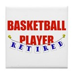 Retired Basketball Player Tile Coaster