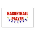 Retired Basketball Player Rectangle Sticker