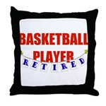 Retired Basketball Player Throw Pillow