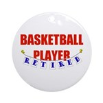 Retired Basketball Player Ornament (Round)