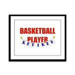 Retired Basketball Player Framed Panel Print