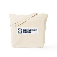 POLISH LOWLAND SHEEPDOG Tote Bag