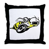 SUPER BEE 2 Throw Pillow