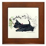 Birthday BOY Scottie Framed Tile