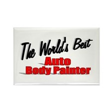 """The World's Best Auto Body Painter"" Rectangle Mag"