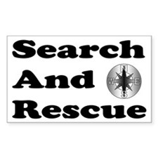 Search And Rescue Rectangle Decal
