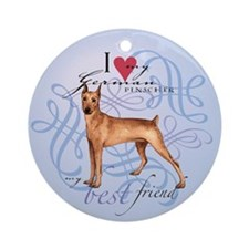 German Pinscher Ornament (Round)
