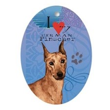 German Pinscher Oval Ornament