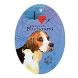 English Foxhound Oval Ornament