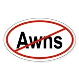 AWNS Oval Decal