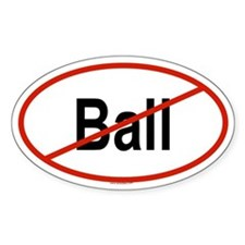 BALL Oval Decal