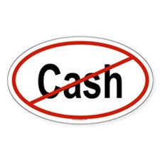CASH Oval Decal