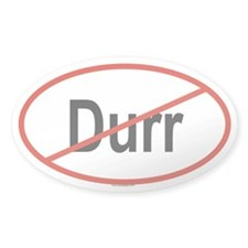 DURR Oval Decal