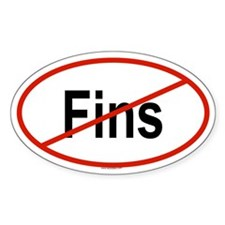 FINS Oval Decal