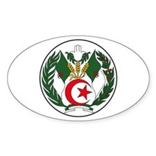 Algeria Coat of Arms Oval Decal