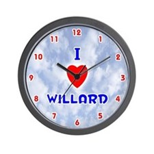 I Love Willard (Red/Bl) Valentine Wall Clock