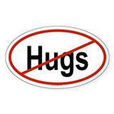 HUGS Oval Decal