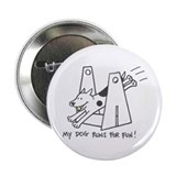 My Dog Runs For Fun-Flyball Button