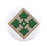 "Fourth Infantry Div. 3.5"" Button"