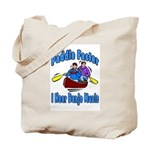 Paddle Faster Canoe Tote Bag