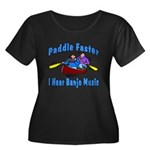 Paddle Faster Canoe Women's Plus Size Scoop Neck D