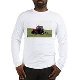 A Red Tractor On The Go Long Sleeve T-Shirt