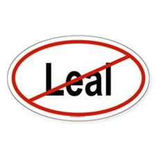 LEAL Oval Decal