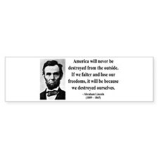 Abraham Lincoln 2 Bumper Bumper Sticker