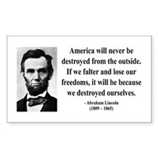 Abraham Lincoln 2 Rectangle Decal