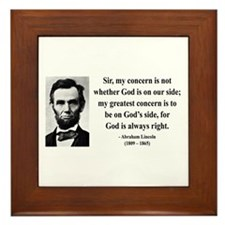 Abraham Lincoln 3 Framed Tile