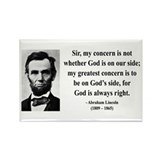 Abraham Lincoln 3 Rectangle Magnet