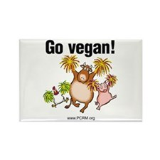 Go Vegan! Cheer Rectangle Magnet