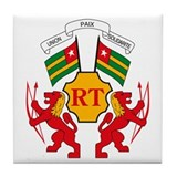 Togo Coat of Arms Tile Coaster