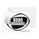 Girlie Fuck Cancer Greeting Card