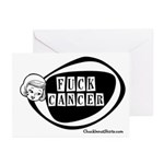 Girlie Fuck Cancer Greeting Cards (Pk of 10)