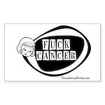 Girlie Fuck Cancer Rectangle Sticker